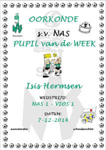 Pupil van de week - Isis