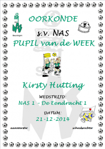 Pupil van de week - Kirsty