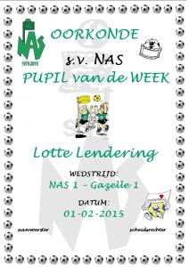 Pupil van de week - Lotte